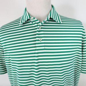 RLX Ralph Lauren Large Golf Polo Shirt Striped